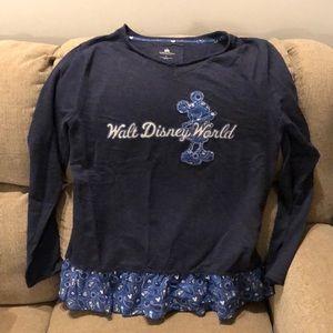Disney Mickey Long Sleeve Shirt L